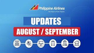 AUGUST - SEPTEMBER FLIGHT SCHEDULE - PHILIPPINE AIR LINES - UPDATED PAL FLIGHTS - PHILIPPINES