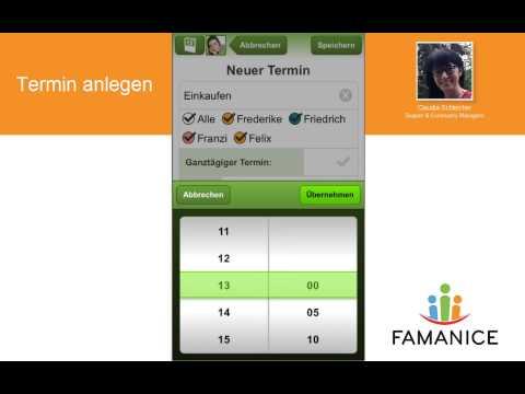 So funktioniert der Familienkalender in der FAMANICE-App