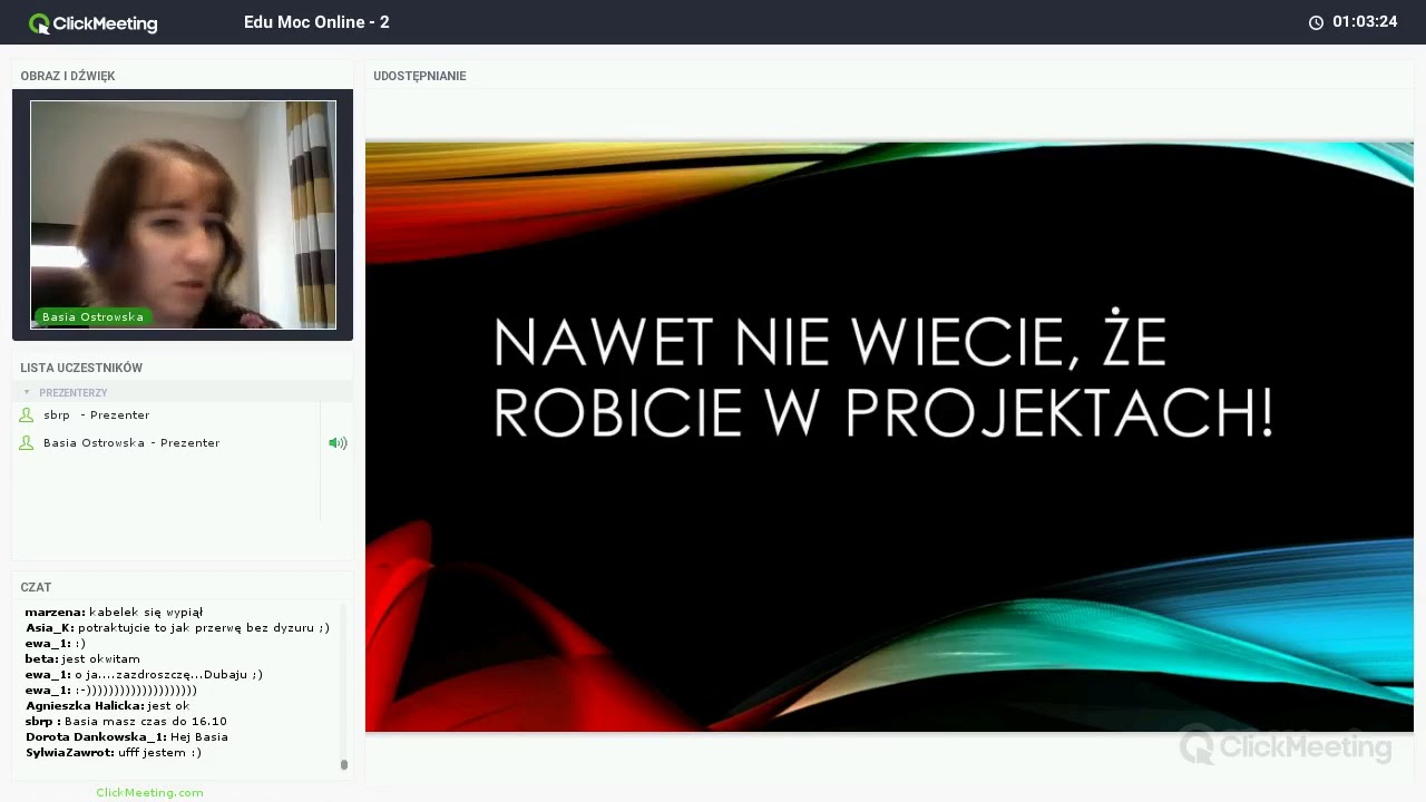 Ostro o projektach - Barbara Ostrowska