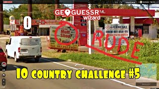 Geoguessr   Guessing 10 COUNTRIES IN A ROW Without Moving!!
