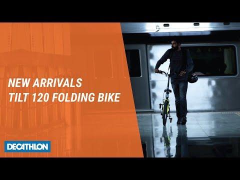 Btwin Tilt 120 Grey Folding Bicycle