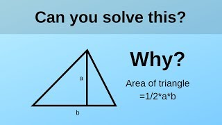 Wht area of any triangle is=1/2*base*height