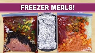 Freezer Meals! Easy Healthy Lunch & Dinner Recipes - Mind Over Munch
