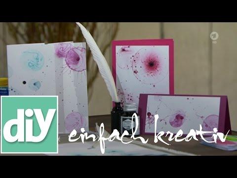 Briefpapier gestalten mit Seifenblasen I DIY einfach kreativ
