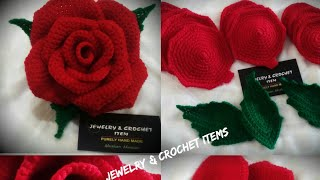 Crochet ROSE 🌹 Pattern