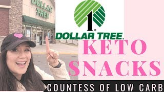 Dollar Tree Haul 💲 Keto Snacks 💲 Keto Foods