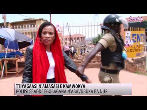 TTIYAGAASI N'AMASASI E KAMYOKYA: Poliisi ebadde egobagana n'abavubuka ba NUP