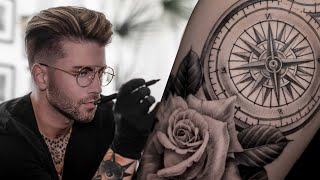 COMPASS TATTOO TIME LAPSE