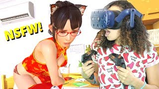 WHAT AM I DOING TO MY VR GIRLFRIEND?! - VR Kanojo Gameplay (HTC Vive Pro)