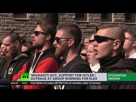 , title : ''Migrants out, support for Hitler': Outrage at group running for election in Sweden'