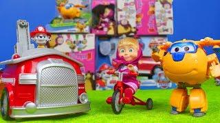Paw Patrol, Masha und der Bär, Super Wings & Feuerwehrmann Marshall Spielzeuge für Kinder