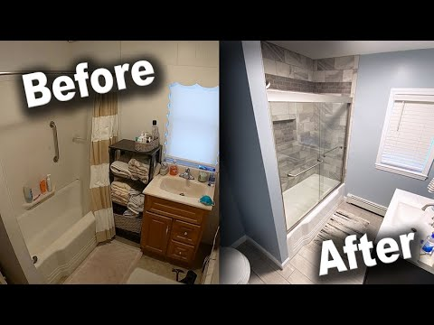 Bathroom Remodel Time-Lapse - DIY Renovation Start to Finish