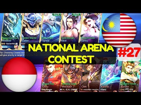 Malaysia VS Indonesia [1st Game 220617] National Arena Contest Mobile Legends