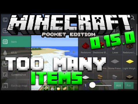 Minecraft PE Too Many Items Mod - Best Inventory Editor for MCPE