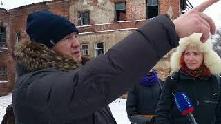 Новости Тулы: Евгений Авилов и журналисты на набережной Упы