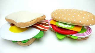 DIY Felt Food Sandwich Set For Kids Play