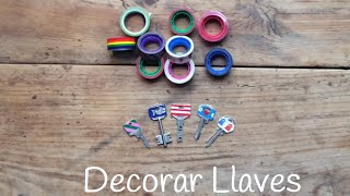 Ideas con washi tape: Decorar llaves - DIY - Manualidades