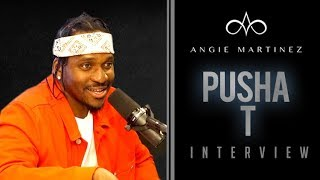 The Angie Martinez Show - Pusha T Talks Good Music Presidency, Kanye, Nas Tour + Friday Album Release