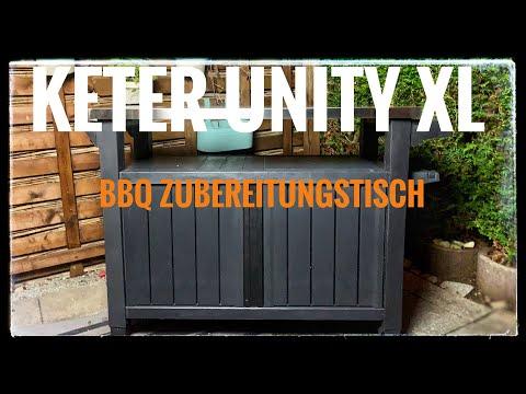 Keter Unity XL Zubereitungstisch/Beistelltisch  Unboxing-Produktvorstellung  I The BBQ Bear I