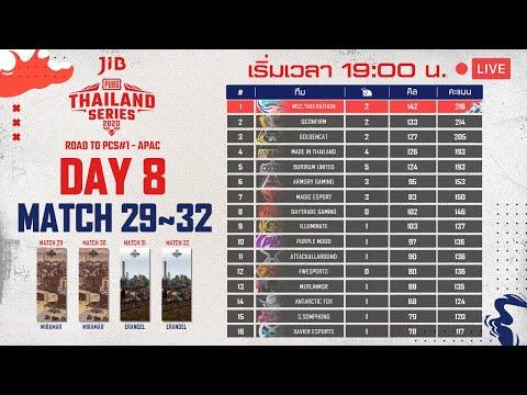 ชมสด! แข่งพับจี วันที่ 8 แมตช์ 29~32   PUBG THAILAND SERIES 2020 ROAD TO PCS#1 - APAC