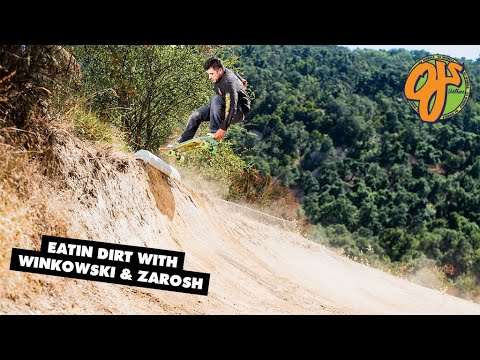 Eating Dirt and Natural Quarterpipe Inverts - Kicking it With Erick Winkowski and Zarosh