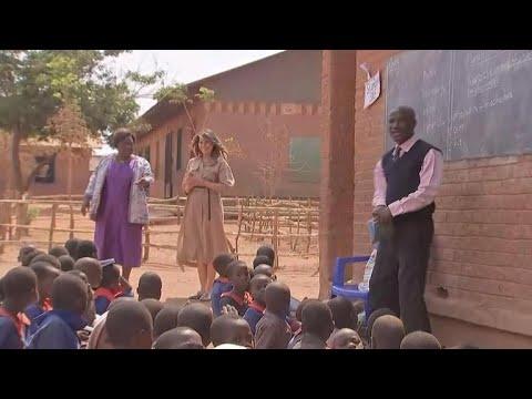 First lady Melania Trump visits school in Malawi