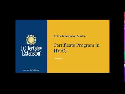 Certificate Program in HVAC Online Information Session - YouTube
