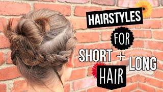 Heatless Summer Hairstyles for Short and Long Hair!