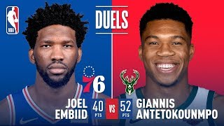 Giannis Antetokounmpo  & Joel Embiid's LEGENDARY Duel | March 17, 2019