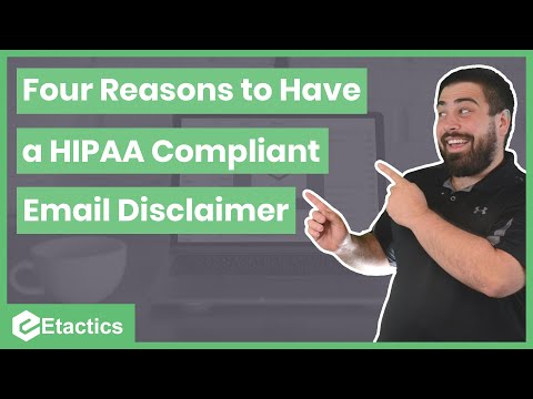 Four Reasons Why You Need a HIPAA Compliant Email Disclaimer ...