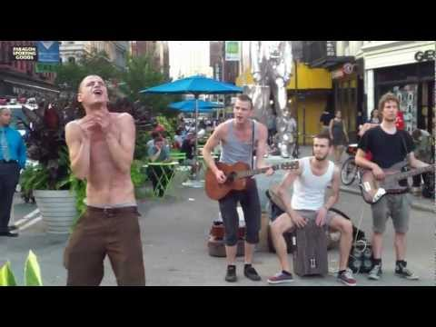 "Street performers amazing cover of ""Minnie the Moocher"""