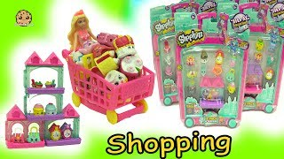 Barbie Fills Up Shopping Cart With World Vacation Shopkins Season 8 At Small Mart