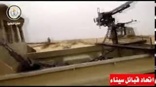 نقطة رصد متحركة لمقاتلي اتحاد قبائل سيناء في الظهير الصحراوي شرق سيناء