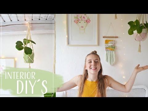 Interior DIY´s Wandteppich weben und Makramee Blumenampel