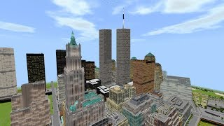 Lower Manhattan NYC 1:1 Scale (Minecraft)
