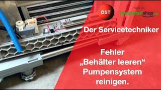 Siemens / Bosch Kondenstrockner Behälter leeren Pumpensystem iq300 reinigen Der Servicetechniker