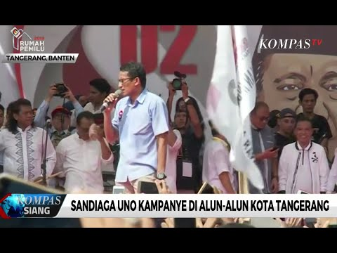 Sandiaga Uno Kampanye di Alun-Alun Kota Tangerang