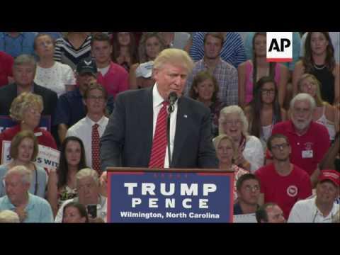Trump encourages violence against Hillary Clinton