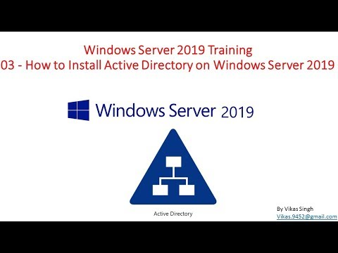 Windows Server 2019 Training - 03 How to Install Active Directory ...