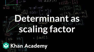 Linear Algebra: Determinant as Scaling Factor