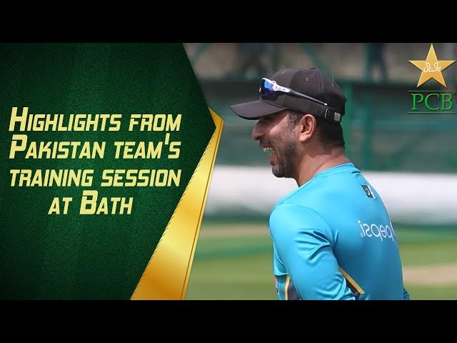 Highlights from Pakistan team's training session at Bath