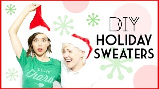DIY Holiday Sweaters ft. Hannah Hart // #DIYDecember LAST DAY!