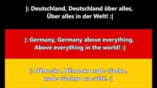 Německá hymna - Píseň Němců (DE/EN/CZ text)