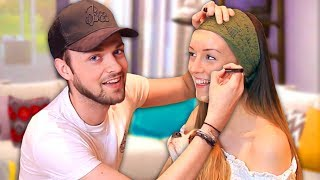BOYFRIEND DOES MY MAKEUP! - Clare & Ali! 😱 - Video Youtube
