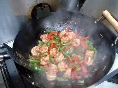 Video Chinese Spicy Shrimp Stir Fry Recipe
