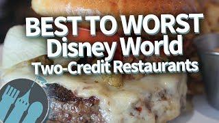 Disney World Signature Dining: Ranking The Disney Dining Plan 2 Credit Restaurants Best To Worst
