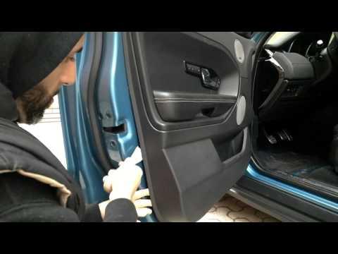 Smontaggio pannello portiera Range Rover Evoque