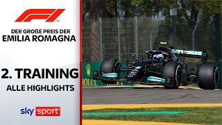 Bottas vor Hamilton | 2. Freies Training - Highlights | Preis der Emilia Romagna | Formel 1