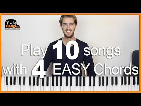 Play 10 EASY Songs with 4 Chords on Piano