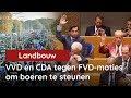 Ja hoor! VVD en CDA stemmen tegen FVD-moties om boeren te steunen
